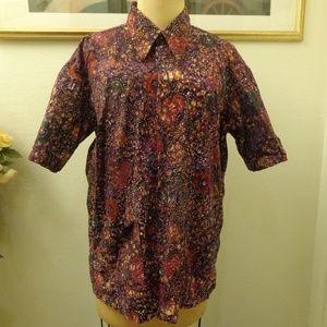 Vintage Psychedelic Floral Print Shirt